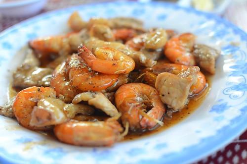 glazed shrimp and pork