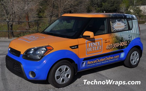 Kia Soul car wrap by TechnoSigns Orlando