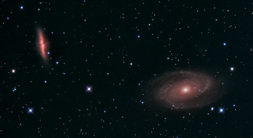 M81 M82 cropped by Mick Hyde
