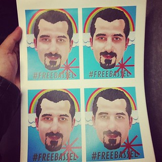 Rainbow @freebassel handphones Stickers. #freebasselday