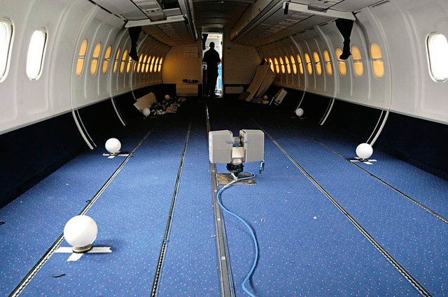 Aircraft interior laser scanning