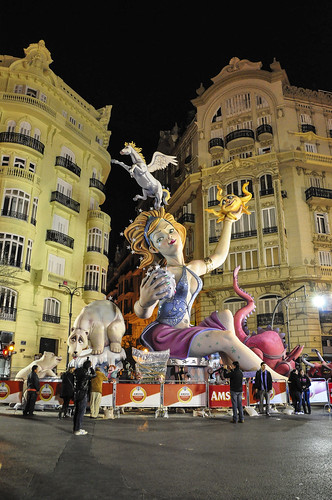Giant Falla Valencia City Spain