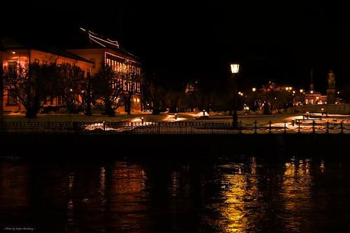 city winter light snow night dark norrköping konicahexanon5017 sonynex