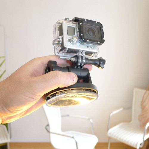 Mobile gear: GoPro suction cup mount by robb montgomery
