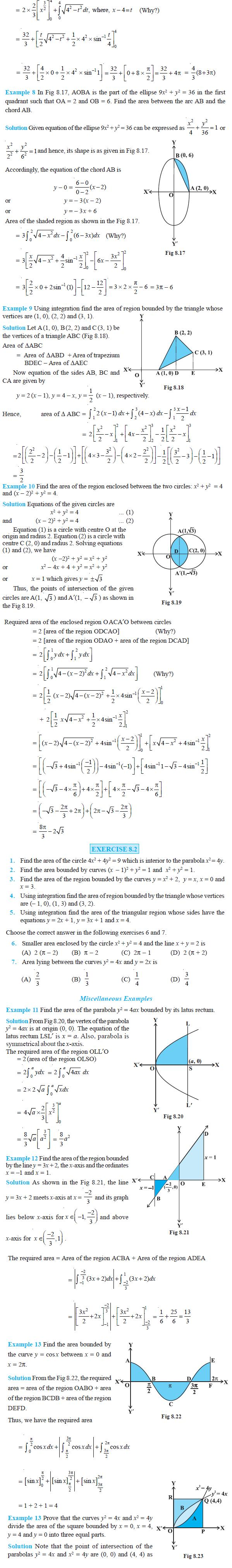 NCERT Class XII Maths Chapter 8 - Application of Integrals