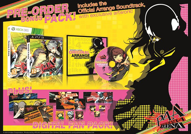 Persona 4 Arena Limited Edition Pre-order Bonus for Australia
