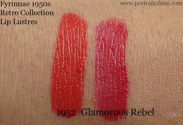 Fyrinnae 1952 and Glamorous Lip Lustre