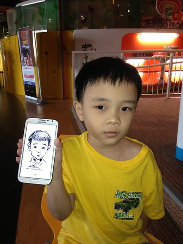 digital caricatures on Samsung Galaxy Note 2 for Stabilo - 2