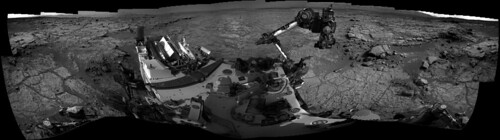 Curiosity sol 223 Navcam left B - 360 panorama