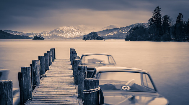 A very cold Windermere!