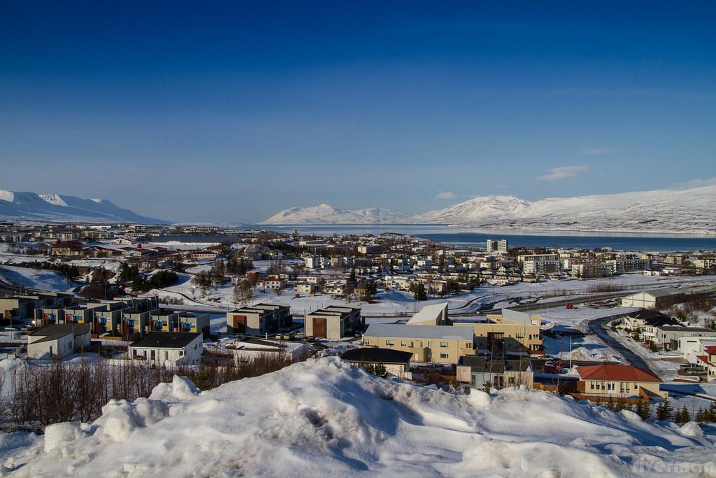 Akureyri í mars