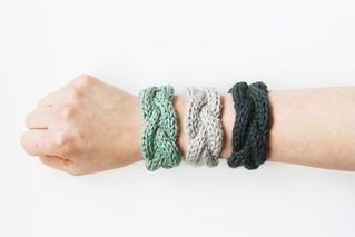 cable knit bracelets