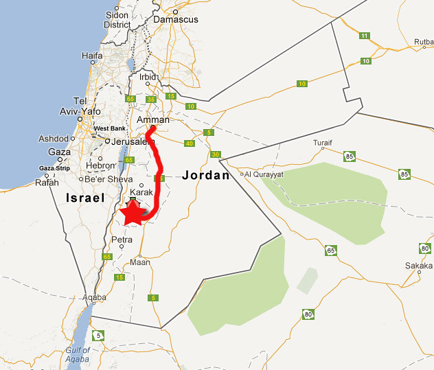 Wadi Dana Map