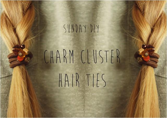 cluster hair tie diy