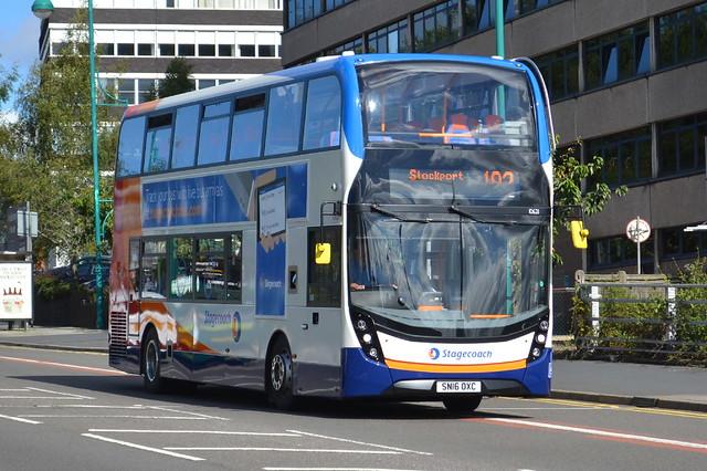 Stagecoach AD Enviro 400MMC 10621 SN16OXC - Stockport