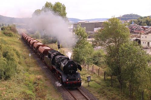 2016-09-16; 158. Loc 50 3648-8 met Güterzug 306. Walldorf.
