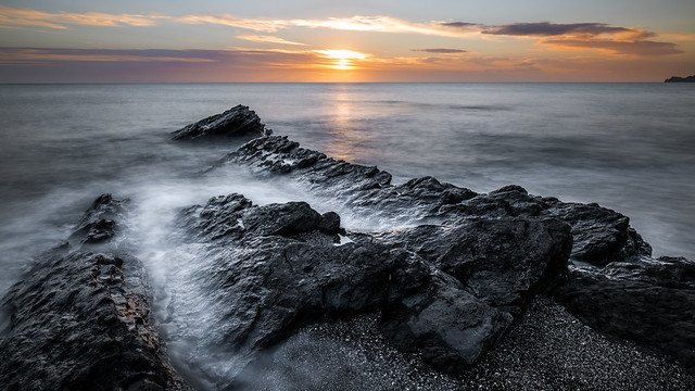 Sunrise in Portmarnock - Dublin, Ireland - Seascape photography