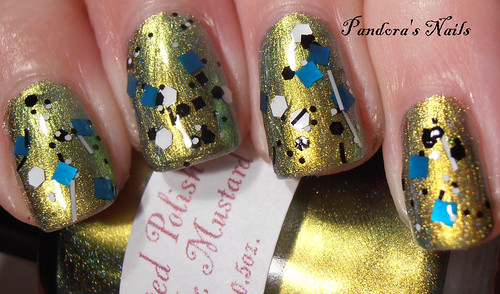 I Love Nail Polish Fully Turqued over Enchanted Polish Mean Mr Mustard 1