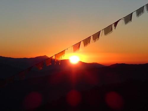 nepal mountain sunrise