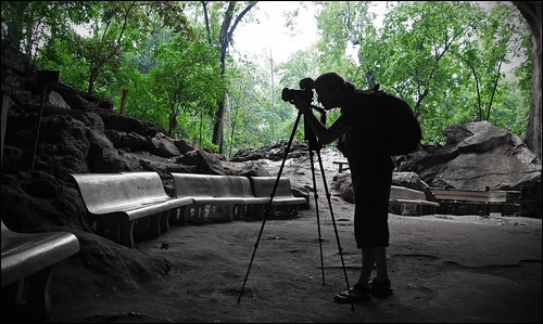 Photographer at work - Wat Suwan Kuha