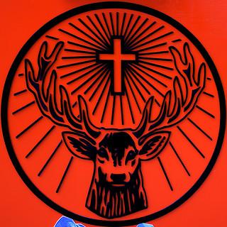 0093 Reindeer & Cross Logo