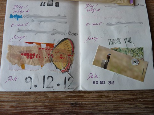Sign in book for the Collage Box 4 (USA)