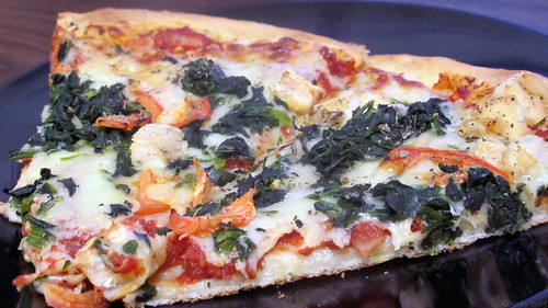 Chicken tomato florentine pizza by Coyoty