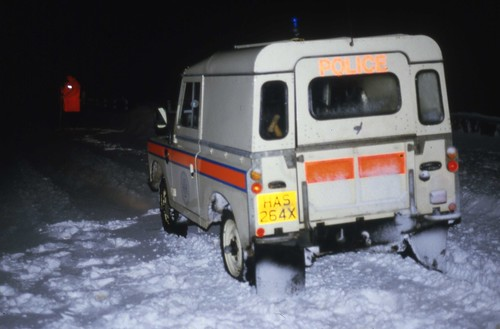 Northern Constabulary early livery - Land Rover