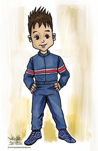 Porsche boy mascot sketch - round 5