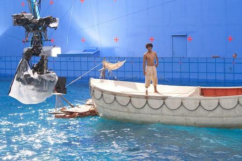 少年pi的奇幻漂流拍攝場景-人造水池。照片提供:美商二十世紀福斯影片公司