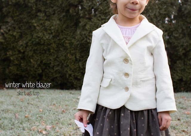 winter white blazer