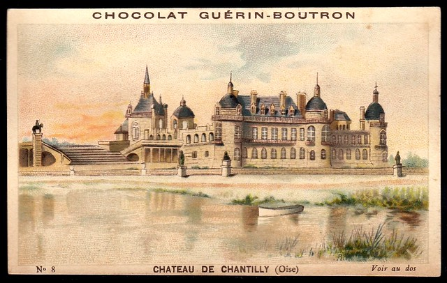 French Tradecard - Chateau De Chantilly