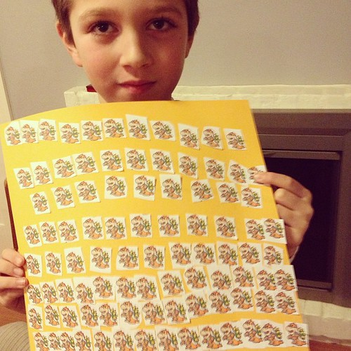 Ethan's 100th day of school project. 100 Bowsers !!