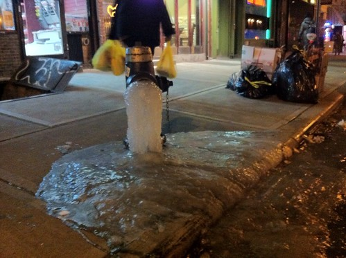 Leaky frozen hydrant