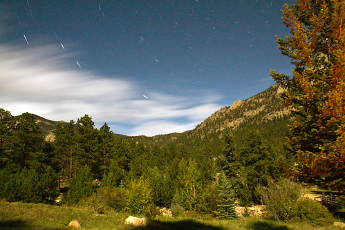 park longexposure travel camping trees sky usa mountain mountains night clouds stars colorado rocky national campground aspenglen dandangler