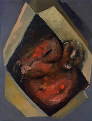 <strong>NIYAZ NAJAFOV | DANCING ON BONES - </strong> Boxes (sleeping)<br />Oil on canvas, 116 x 89 cm, 2012