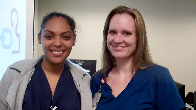 Alexis Johnson—Medical Assistant, ENT Clinic in League City, and Ava Shoemake—Nurse Clinician III, Preop & Pacu at the Specialty Care Center at Victory Lakes