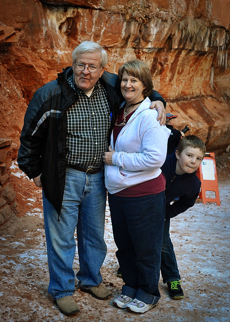 Grandma, Grandpa and Hunter @ zions copy