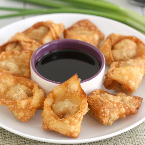 Fried Pork and Shrimp Wontons | Tracey's Culinary Adventures