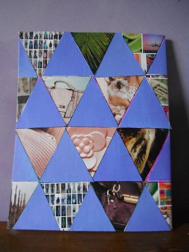 Purple triangles back cover