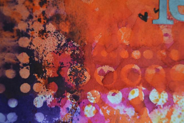 Art Journal Calendar_February closeup