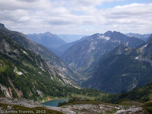 Doubtful Lake and part of the view from Sahale Arm, North Cascades National Park