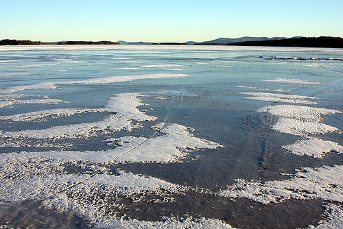 Lake Winnipesaukee NH in Winter by blackcatnh