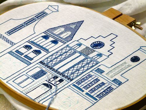 Dutch Canal House embroidery