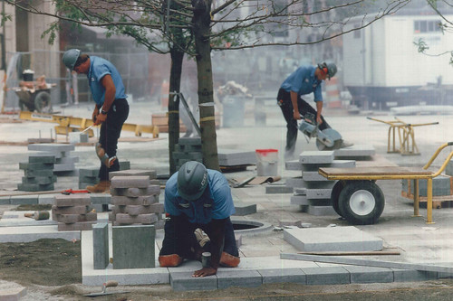 Workers at Westlake Park, circa 1987