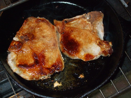 Pork chops from the pig we helped slaughter