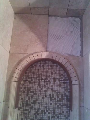 Travertine tile design