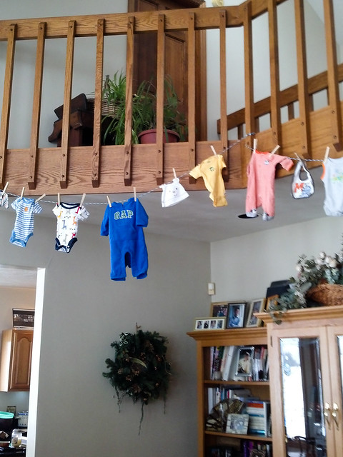 onesies on the balcony!