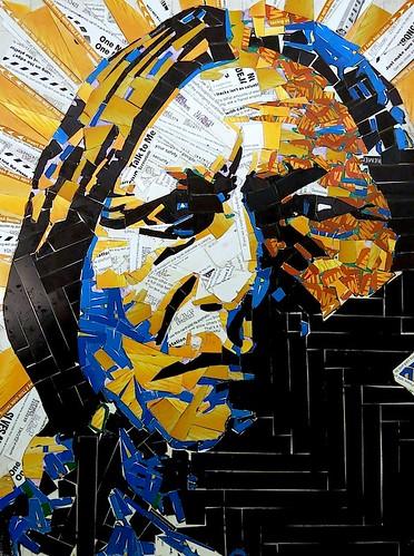 Carlos Pinto metro card art by LoisInWonderland