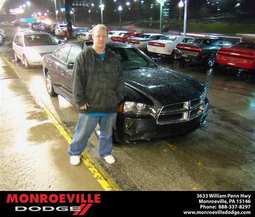 Congratulations to Jason Sherry on the 2012 Dodge Charger by Monroeville Dodge